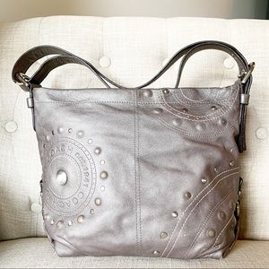 Coach - Studded Appliqué Duffle Graphite